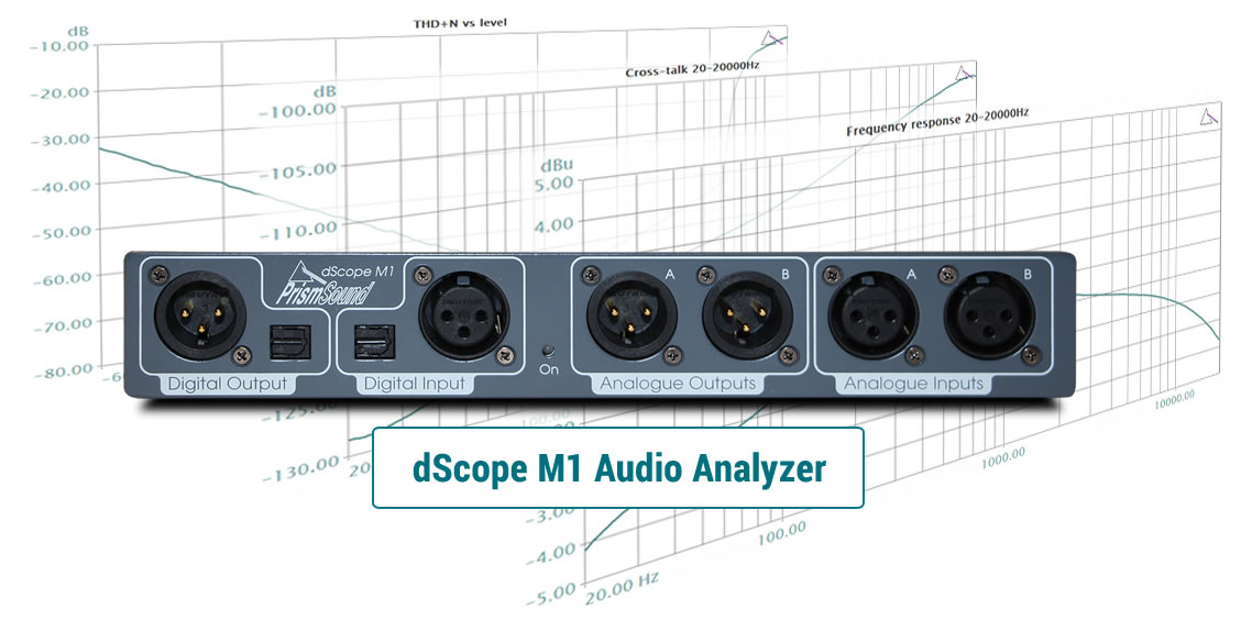 dScope M1 for audio test & measurement
