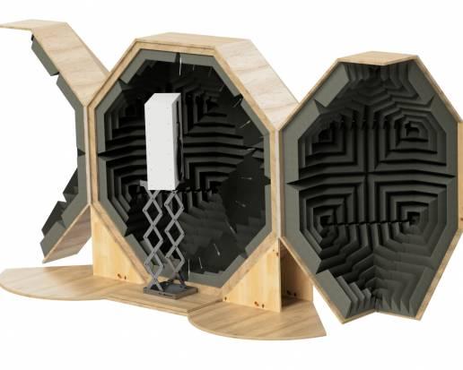 Acoustic polar test chamber for loudspeaker polar measurements